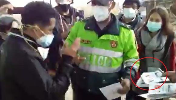 Personero de Perú Libre fue acusado de firmar 87 cédulas de sufragio en Carabayllo. (Foto: Captura video)