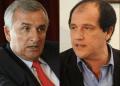 El gobernador de Jujuy, Gerardo Morales (izq.), y embajador argentino, Ariel Basteiro. / Fotocomposición: Página Siete.