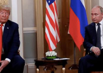 Los presidentes Trump y Putin durante la cumbre de Helsinki de 2018 en la que ambos negaron enfáticamente que hubiera habido interferencia de Rusia en las elecciones estadounidenses. REUTERS/Kevin Lamarque.