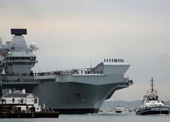 El portaaviones de la Royal Navy, HMS Queen Elizabeth. Reutes