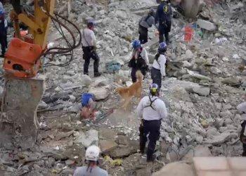 Equipos de rescate en el lugar de la tragedia en Miami. / Handout via REUTERS