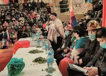 Potosí organizó una cumbre de defensa del salar, el jueves en la localidad turística de Uyuni. Foto-Gobernación de Potosí.