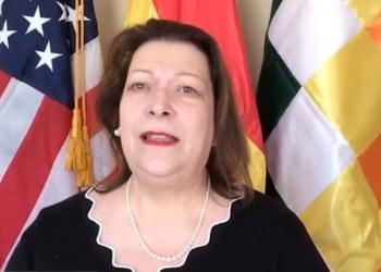 La Encargada de Negocios de la Embajada de Estados Unidos en Bolivia, Charisse Phillips