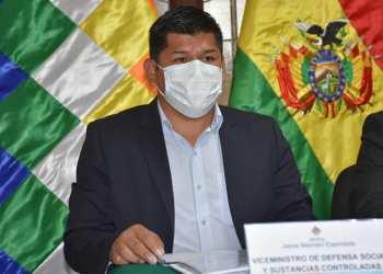 El viceministro de Defensa Social y Sustancias Controladas, Jaime Mamani.