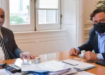 El jefe de Gabinete del Gobierno argentino, Juan Manzur, con el gobernador Gustavo Sáenz.
