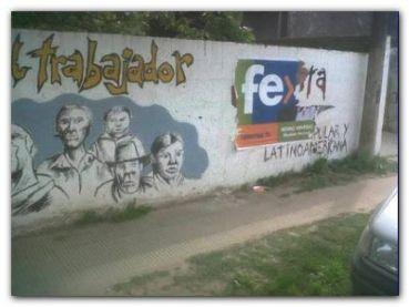 NECOCHEA: Repudio a destrucción de Mural de los trabajadores