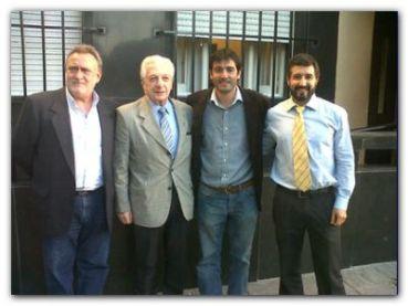 NECOCHEA: Marcelo Ordoqui junto a Jorge Martínez con el Ministro de Trabajo Oscar Cuartango