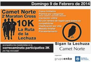 DEPORTES: 9 de Febrero. Camet Norte. 2da. Maraton Cross 10K – Correcaminata 3K