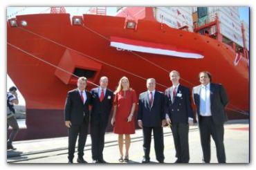 PORTUARIAS: El puerto Dock Sud botó el buqué más grande de su historia