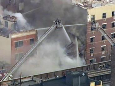 Explosión y derrumbe en Nueva York