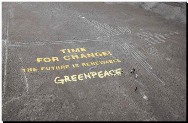 Perú denuncia a Greenpeace por atentado contra el patrimonio