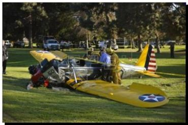 ACCIDENTE: Harrison Ford, fuera de peligro tras estrellarse la avioneta que pilotaba
