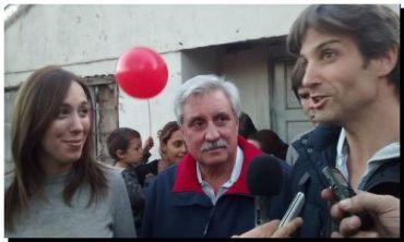 ELECCIONES 2015: Ernesto Casaretto, Eugenia Vidal y Segundo Cernadas en el Barrio Las Tunas