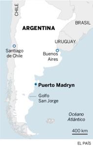mapa de hundimiento buque chino por argentina