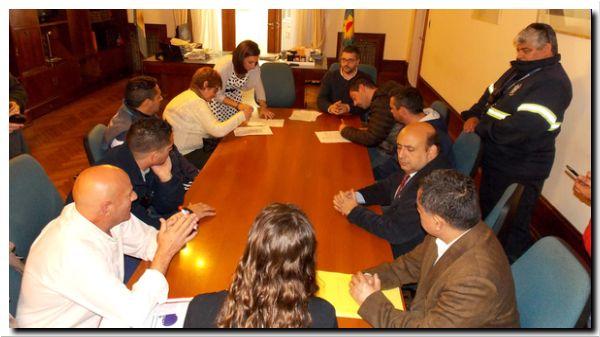 NECOCHEA: Se firmó el acta acuerdo con los tres sindicatos municipales y se cerró la paritaria
