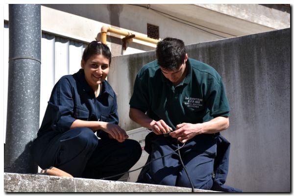HOSPITAL IRUZUN: Instalan iluminación Led con energía renovable