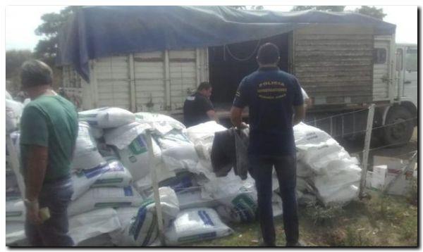 ROBO: Detuvieron a ladrones de fertilizantes y herbicidas