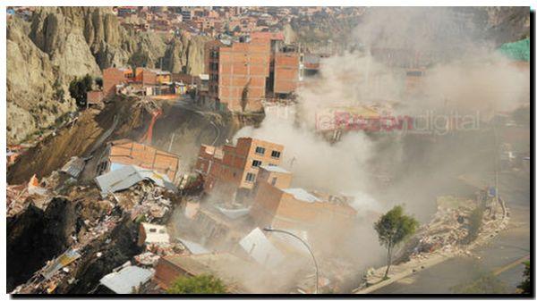 BOLIVIA: Deslizamiento de tierras en La Paz
