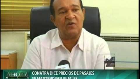 Transportista no aumentarán precio del pasaje en feriado de Semana Santa