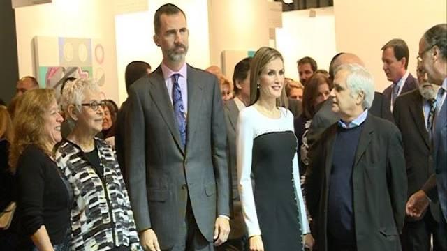 Los Reyes de España inauguran la Feria ARCO