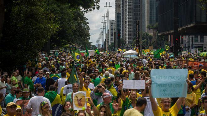 Brasil protesta contra la corrupción y la impunidad