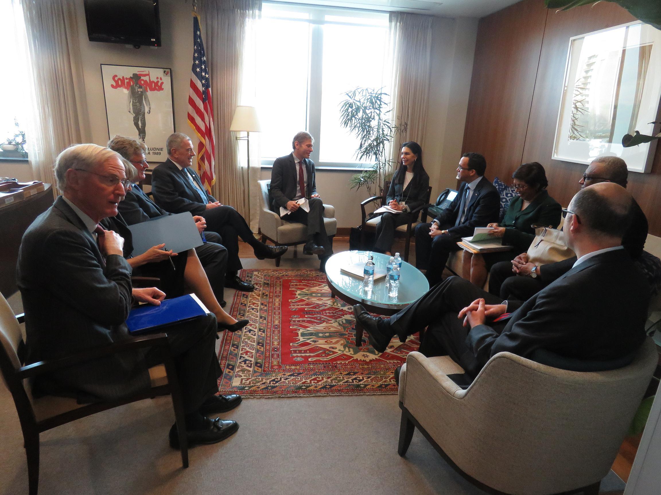 Canciller presenta a los  Estados unidos la nueva política exterior de RD