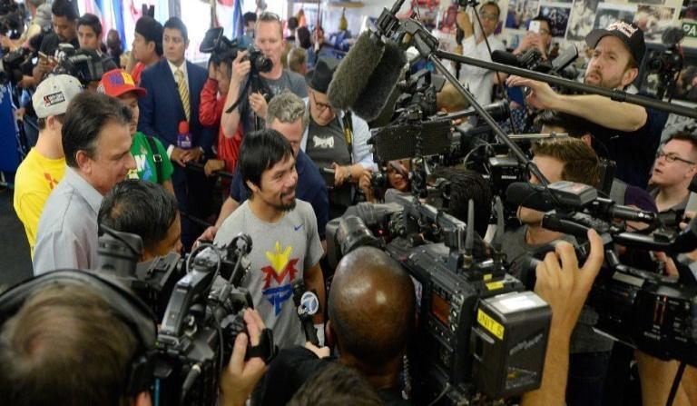 """Pacquiao le responde a Mayweather : """"Hablaremos en el ring"""""""