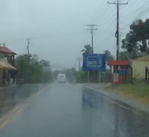 Se registran ligeras lluvias en gran parte del país