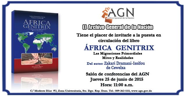 """AGN invita a la puesta en circulación de la obra """"África Genitrix"""""""