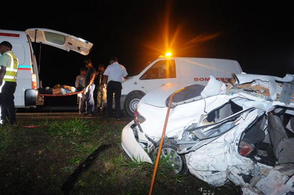 Cinco muertos y dos heridos. Otro fatal accidente en la autopista Santo Domingo-Samaná