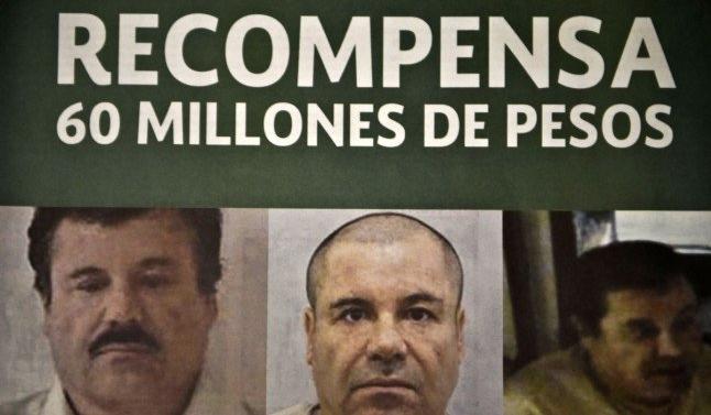 """Se busca: 60 millones de pesos mexicanos por la captura  de """"El Chapo"""""""