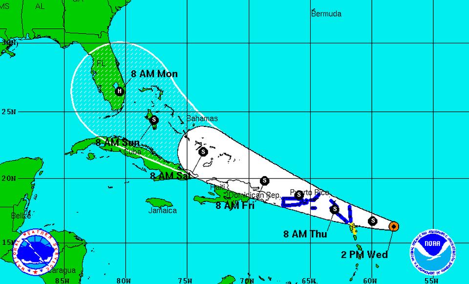 Alerta de tormenta tropical desde Cabo Engaño hasta Cabo Francés para el viernes