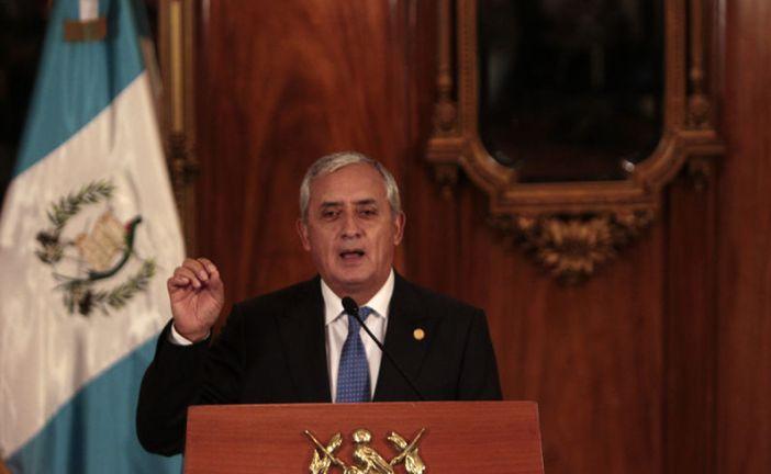 """Presidente de Guatemala se resiste a renunciar. """"No soy un delincuente"""""""