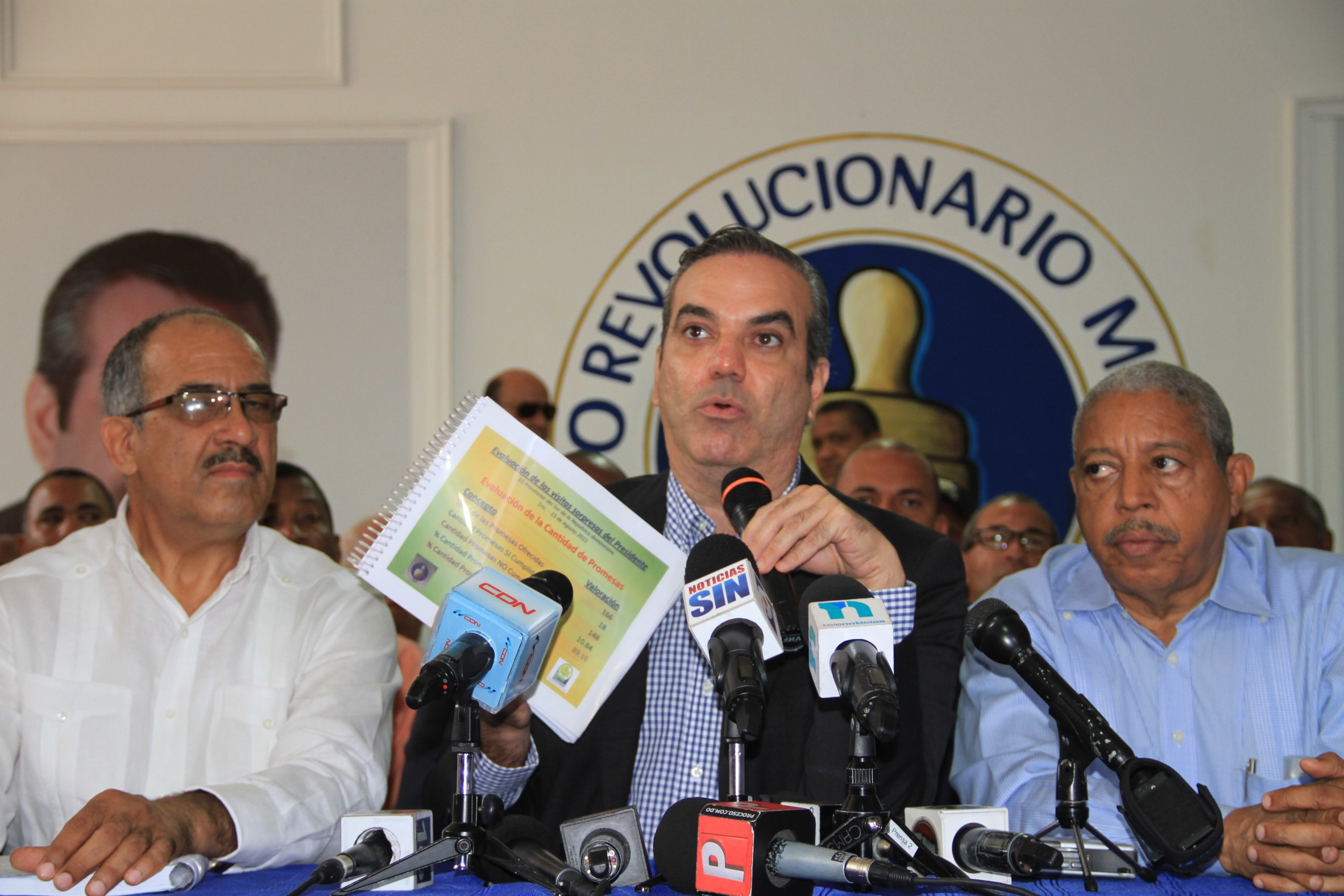 "PRM revela Danilo Medina solo ha cumplido 18 de 166 promesas hechas en las ""visitas sorpresa"""