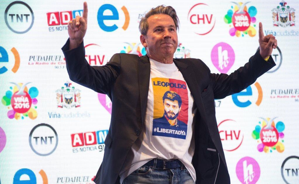 Ricardo Montaner pide la libertad de Leopoldo López en Venezuela