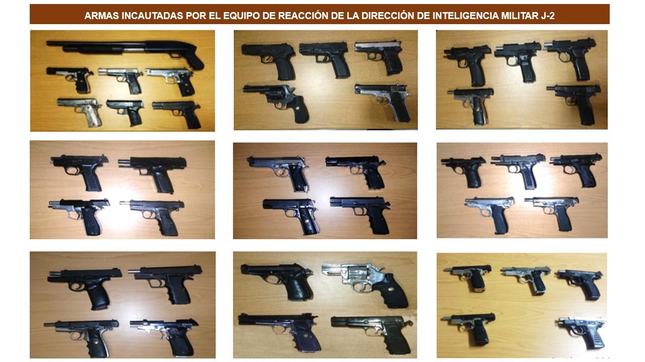 Ministerio de Defensa incauta 43 armas de fuego
