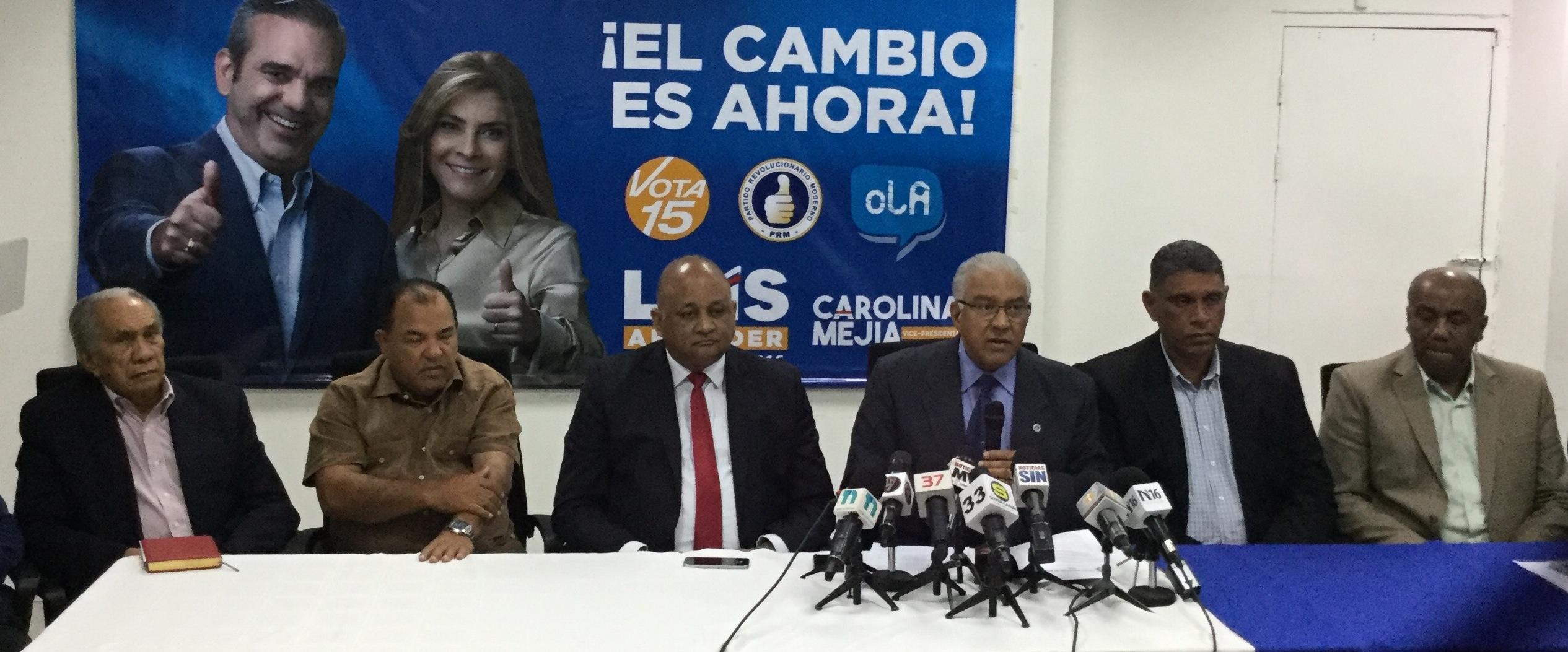 PRM responsabiliza a Medina  de intervenir  en  licitación   de plantas para favorecer a Odebrecht
