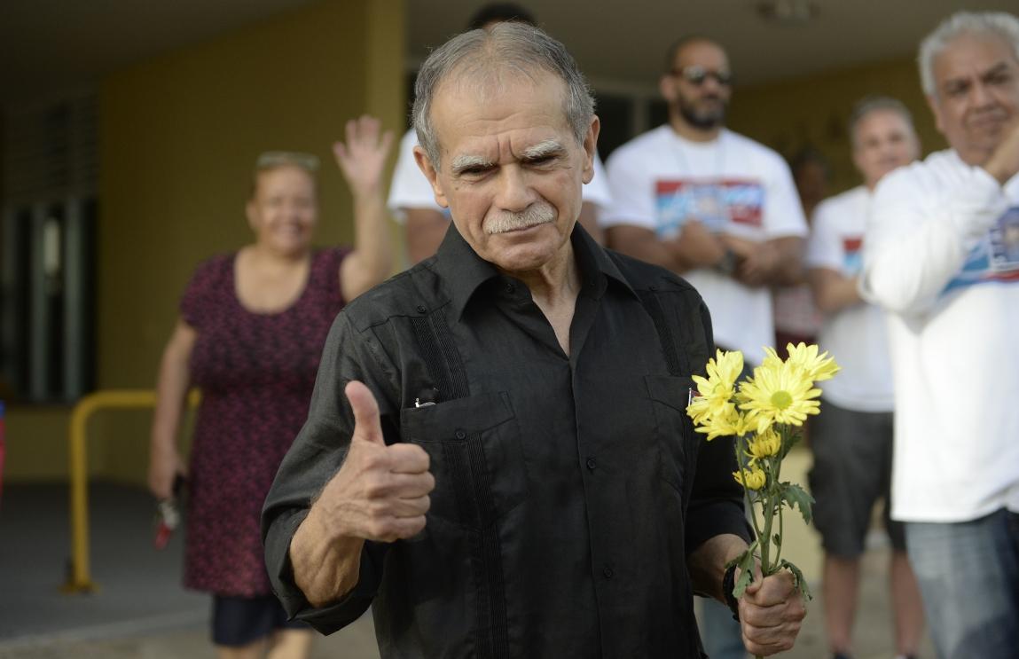 Liberan en San Juan al independentista puertorriqueño Oscar López Rivera