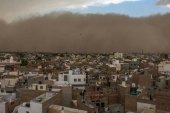 tormenta de polvo arrasó el norte de India: al menos 97