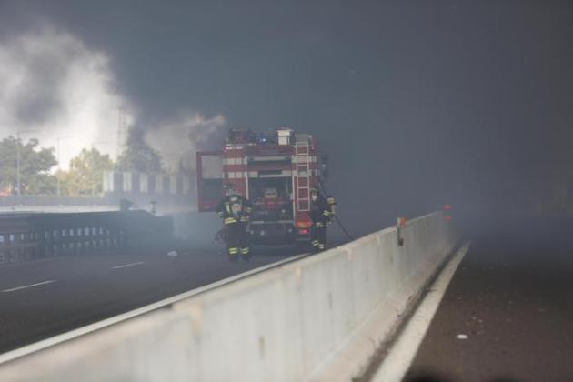 Explosión y muerte en la autopista A14.