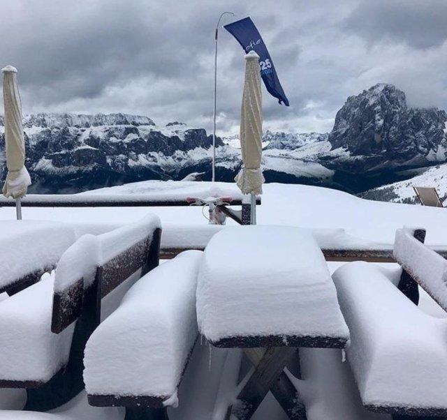 Nieve en Véneto.
