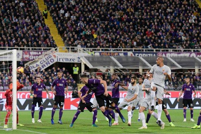 Fiorentina vs Roma. (@OfficialASRoma)