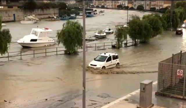 Mazara, bajo el agua. (Rai)