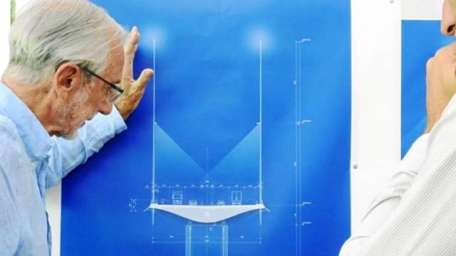 Renzo Piano y su diseño para el nuevo puente de Génova, que no llevará el nombre Morandi (Foto: La Razón de España).