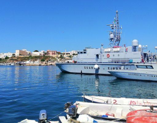Puerto de Lampedusa.