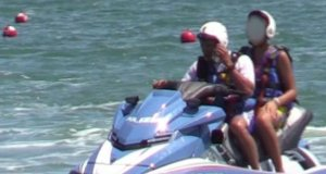 Salvini en la moto de agua