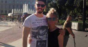 Luca Sacchi y su novia.