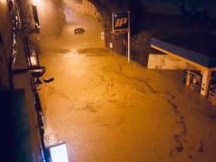 Inundación en Génova.