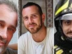 Los tres bomberos muertos.