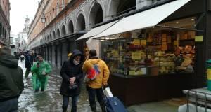 Venecia bajo el agua.